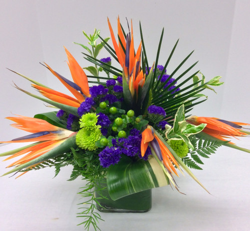 Birds in the Tropics Fresh Cube Arrangement