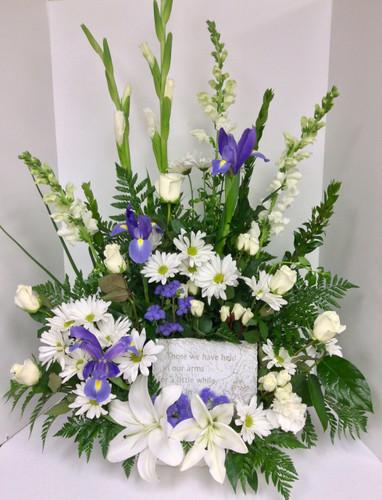 Elegant Remembrance Fresh Arrangement with Keepsake plaque