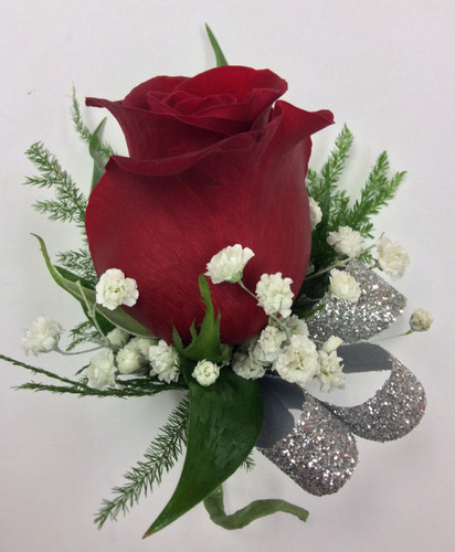 Fire and Sparkle Boutonniere