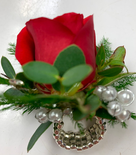 Keepsake Ring With Flower Attached