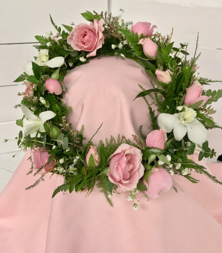 """""""Orchids and Sweethearts"""" Head-wreath"""