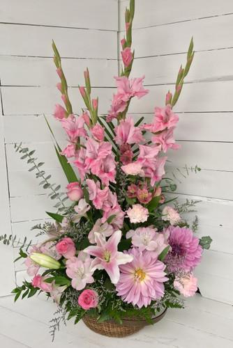 Lovey Pinks Garden Basket