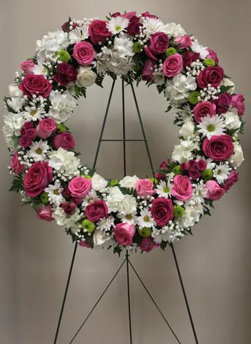 Glorious Rose Garden Large Fresh Wreath