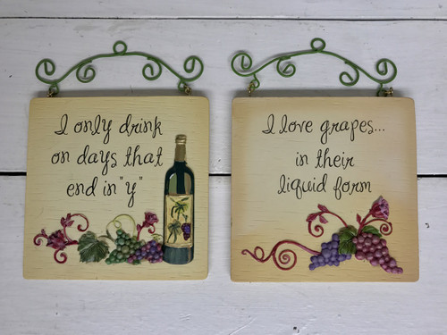 """4"""" by 4"""" resin wine plaques"""