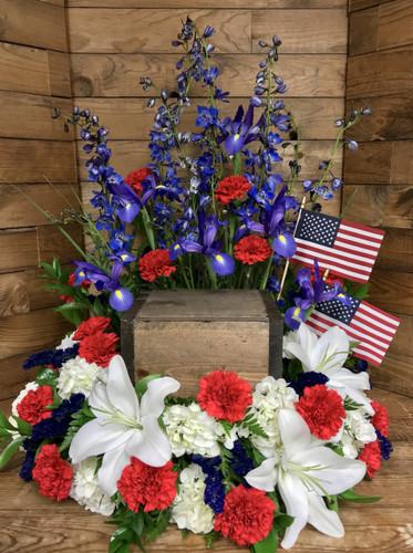 Patriotic Urn Adornment