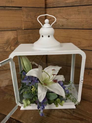 """12"""" White Lily Lantern"""