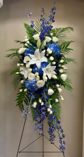 Beautiful Blue Garden Easel