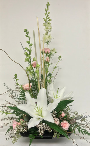 Lovely Lily and Sweetheart Contemporary Arrangement