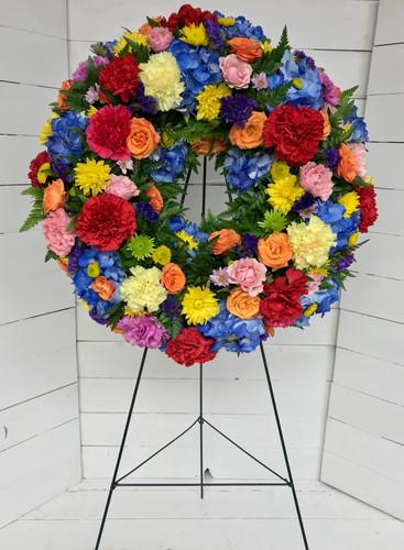 """16"""" Multicolored Fresh Wreath"""
