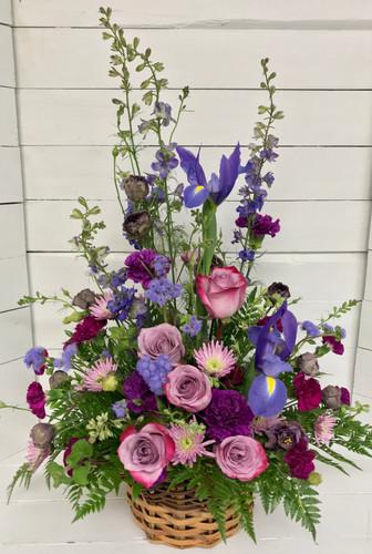 Pretty Purple Garden Basket