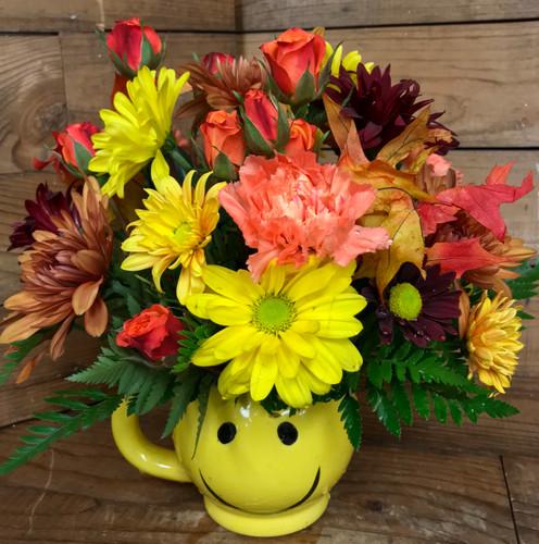 Smiley Mug in Fall Colors
