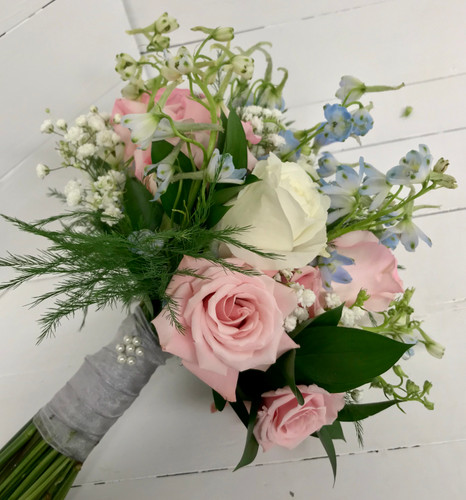 Rose and Spray Rose Hand-tied bouquet