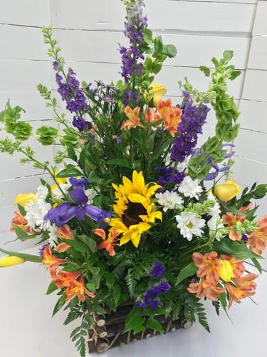 Wildflower Garden Flemish Basket