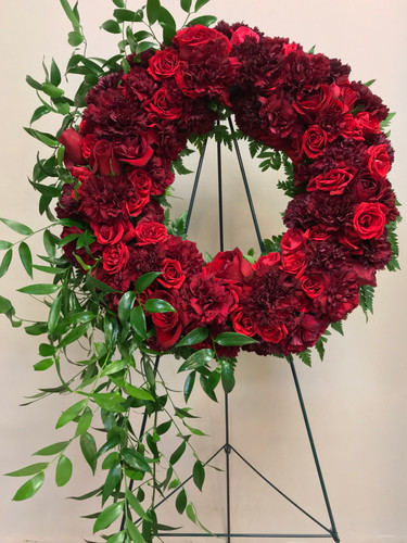 Gorgeous Wreath in Burgundy and Crimson