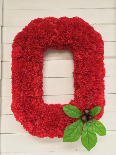 """""""Buckeyes Wreath"""" in Silk or Fresh"""