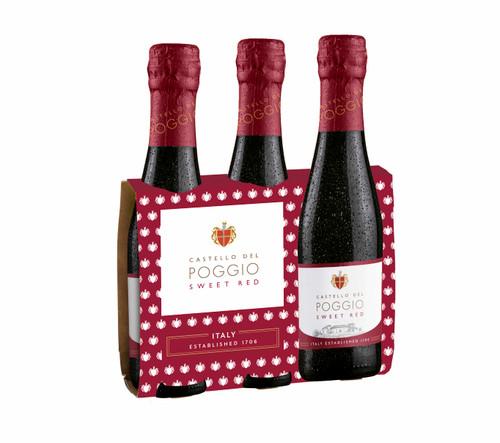 Castello Del Poggio - Sweet Red 187ml Bottle (3 pack)