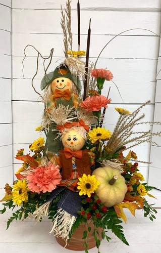 """Scarecrow Love"" Fresh Arrangement"