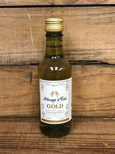 Ménage à Trois Gold Chardonnay-  187ml bottle