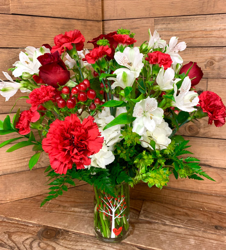 """Tree of Love"" Fresh Vase Arrangement"