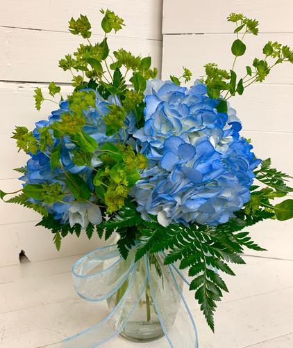 Blue Hydrangea Garden Vase
