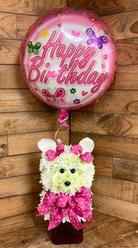 Happy Birthday Pup with Balloon