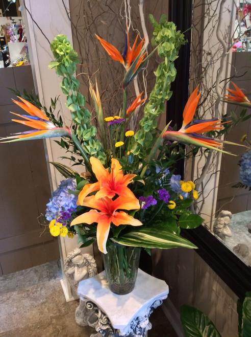 Mixed Tropical Vase
