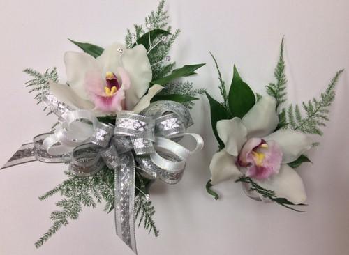 Cymbidium orchid corsage and boutonnière