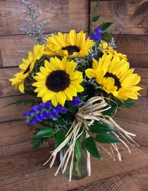 """Sunflower Field Vase"""