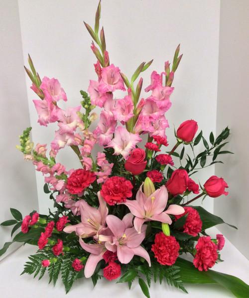 Stunning Pinks Table Arrangement