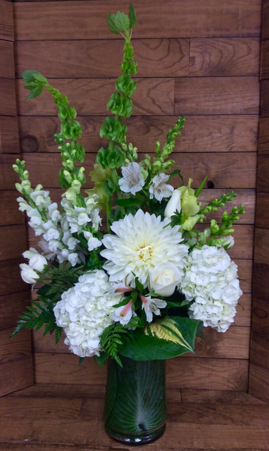Glorious Garden Vase in Whites and Creams