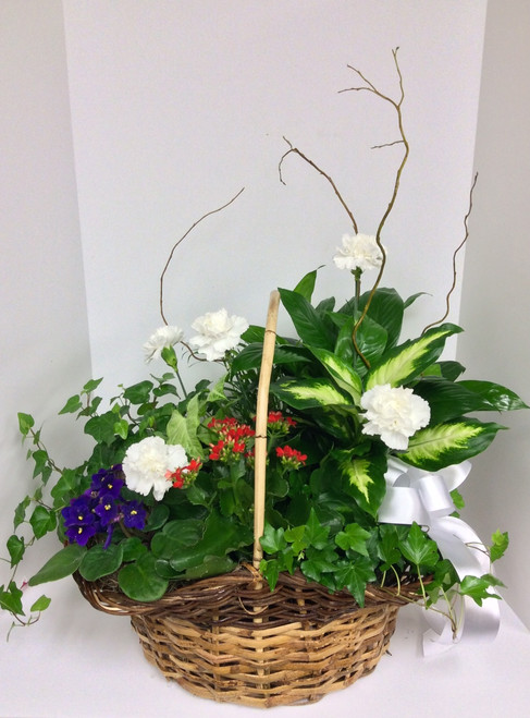 Green and Blooming Masterpiece Basket