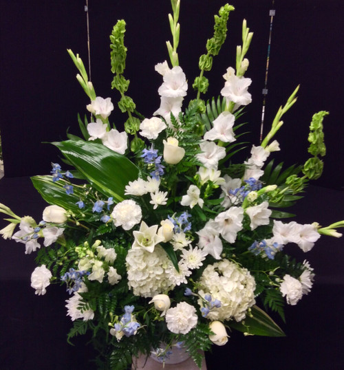 Celebration Arrangement in Blues and Whites
