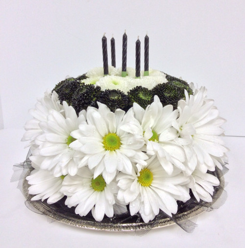 Over The Hill Floral Birthday Cake