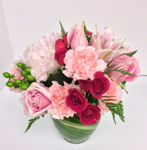 Bubble gum and cotton candy vase
