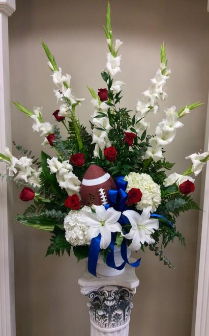 Celebration of Life Arrangement for the Football Fan