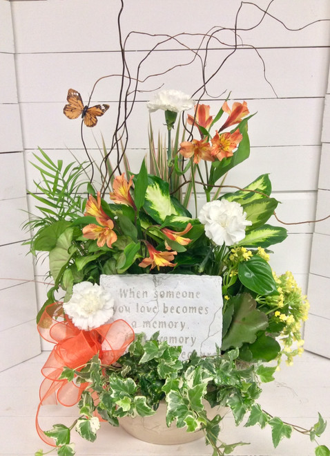 Lovely Memories Planter with Keepsake Plaque