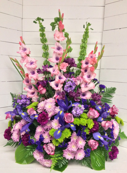 Amethyst, Lavender, and Green Stunning Celebration of Life Arrangement