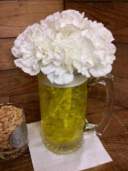 Fresh and Frosty Beer mug Arrangement