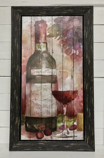 """29"""" by 16"""" watercolor look wine sign - Cabernet"""