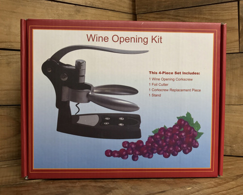 4 piece wine opening kit