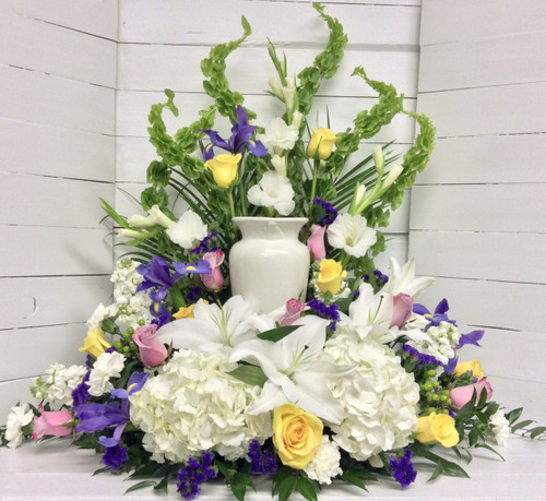 Lovely Spring Colored Urn Adornment