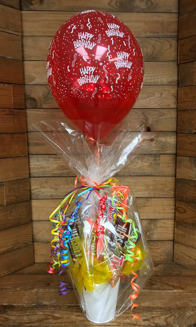 Candy Bar Birthday Bouquet with Balloon