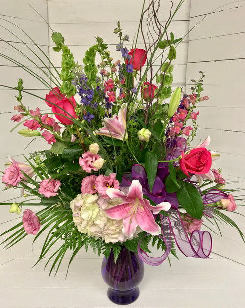 Gorgeous Pink and Purple Garden Vase