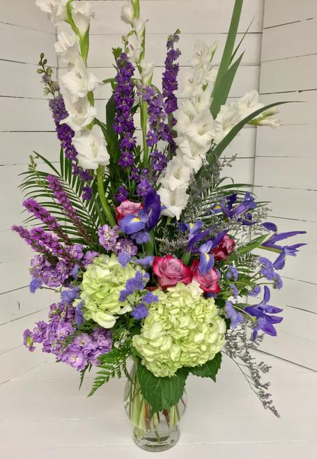 Gorgeous Large Purple Garden Vase