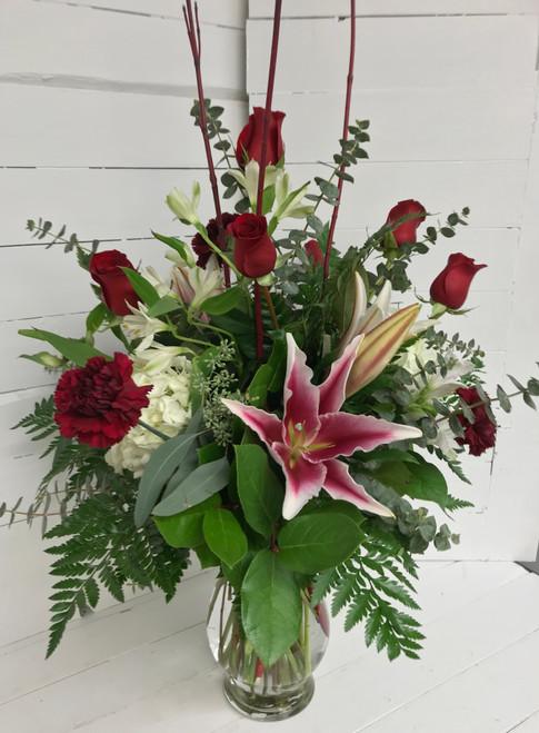 Stargazer Romance Fresh Vase