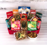 Perfect gift for any occasion with meat, cheese, snacks, chocolate  and summer sausage.