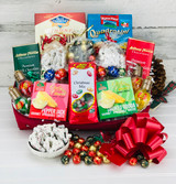 Christmas themed gift basket