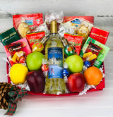 Christmas or holiday Themed wine gift gift basket