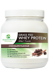 Grass Fed Whey Protein Powder - Chocolate Flavour - RichardMorrisNutrition.com