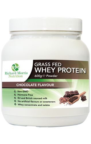 Grass Fed Whey Protein Powder - Chocolate Flavour - RichardMorrisNutrition.com